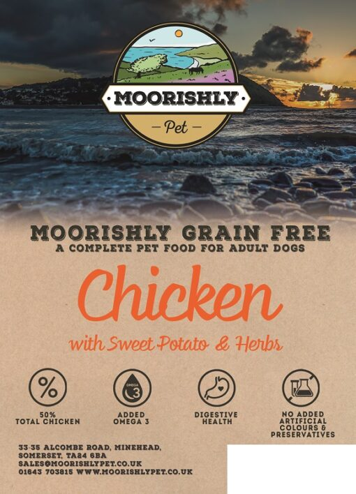Moorishly Grain Free Dog Food Chicken