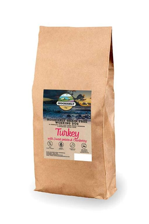 Moorishly Grain Free Working Dog Food Turkey