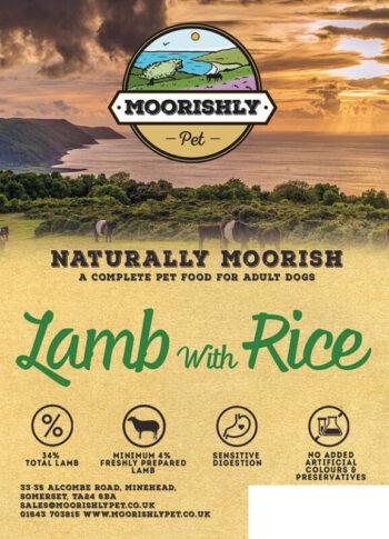 Naturally Moorish Quality Adult Dog Food with Lamb and Rice
