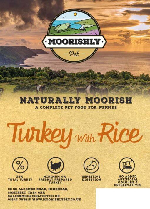 Naturally Moorish Quality Puppy Dog Food Turkey and Rice 12kg
