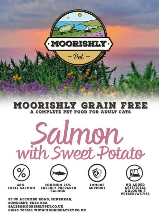 Moorishly Pet cat food with salmon