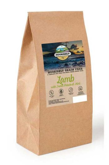 Moorishly Grain Free Quality Small Breed Dog food with Lamb, Sweet Potato and Mint