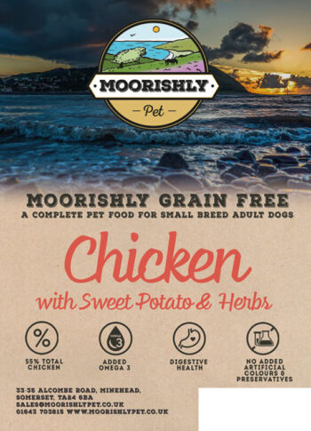Moorishly Pet Small breed dog food with chicken