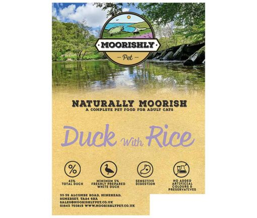 Naturally Moorish Quality Duck with Rice Cat Food