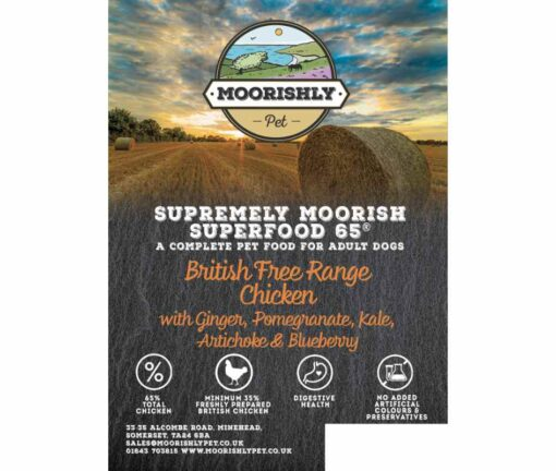 Supremely Moorish SUPERFOOD 65 ADULT Dog Food with British Chicken